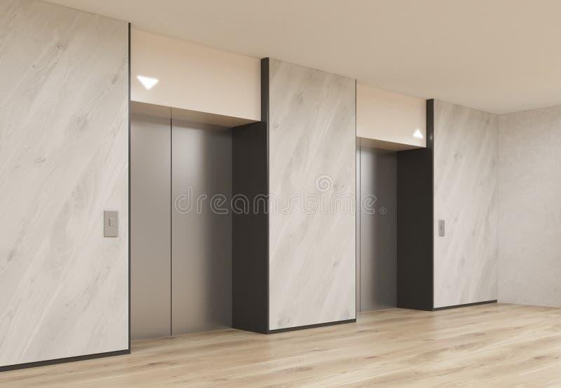 Interior with elevators royalty free illustration