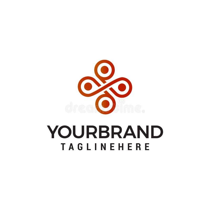 Interior emblem logo design concept template stock illustration
