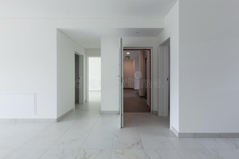 Interior of empty apartment royalty free stock photo
