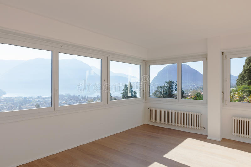 Interior of empty apartment. royalty free stock image