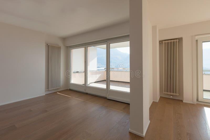 Interior of empty apartment. stock photography
