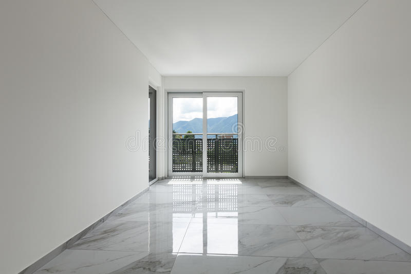 Interior of empty apartment stock images