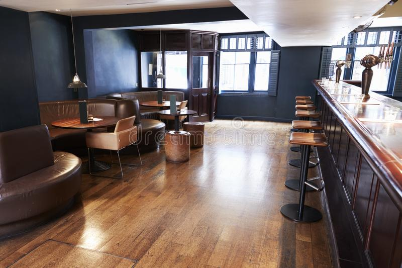 Interior Of Empty Bar With Stools And Counter royalty free stock images