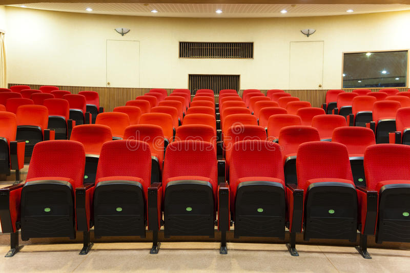 Interior of empty conference hall royalty free stock photos