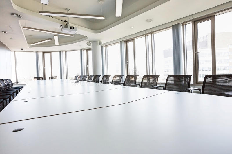 Interior of empty conference room in creative office stock photos