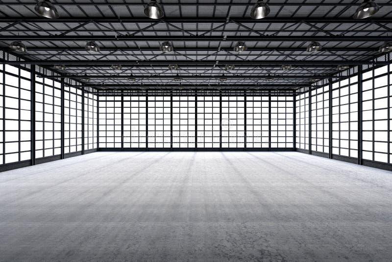 Interior empty factory stock photography