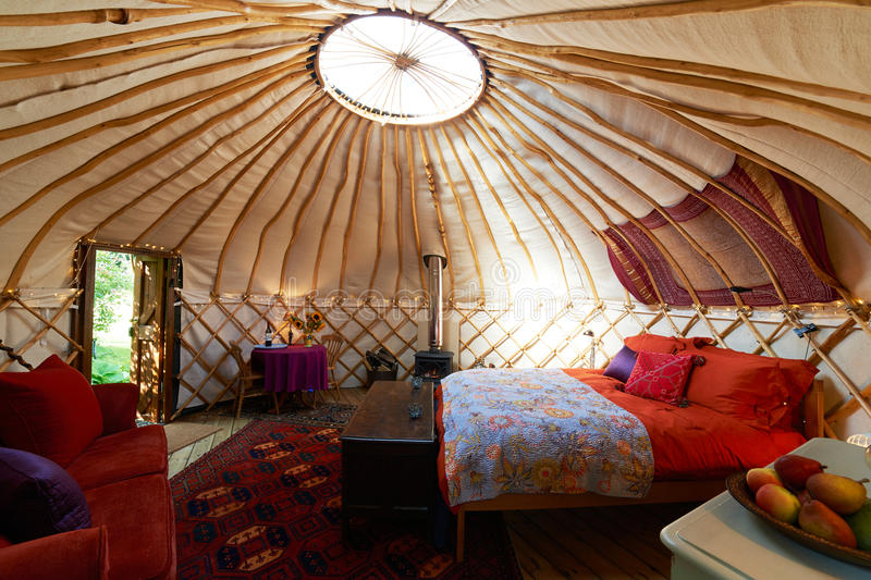Interior Of Empty Holiday Yurt royalty free stock images