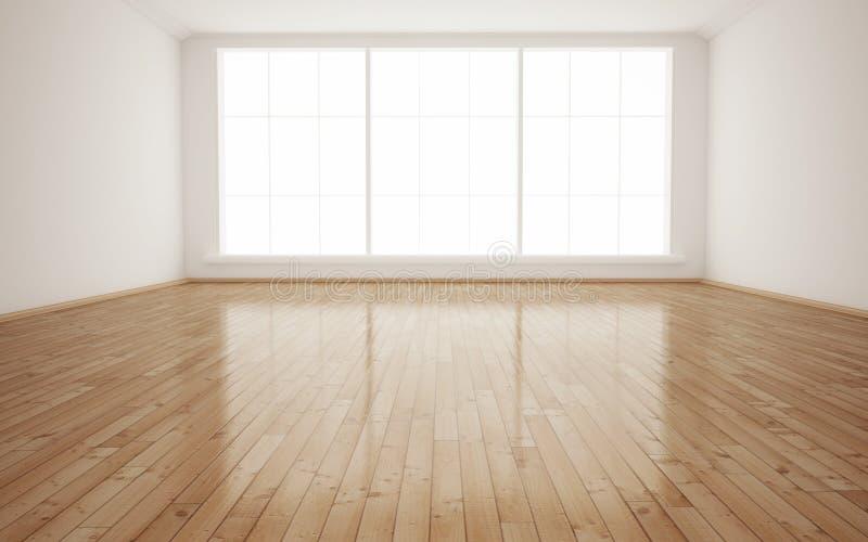 Interior empty room stock illustration