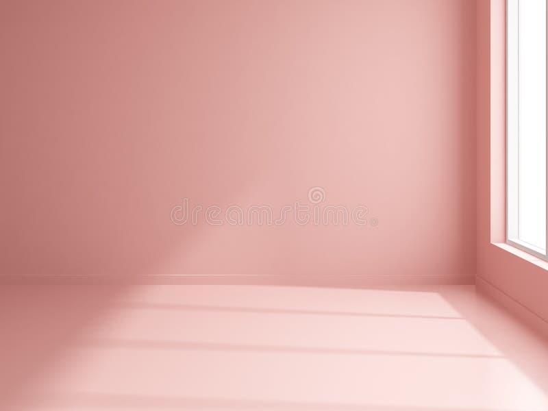 Interior Empty Room 3D Rendering Stock Illustration - Illustration ...