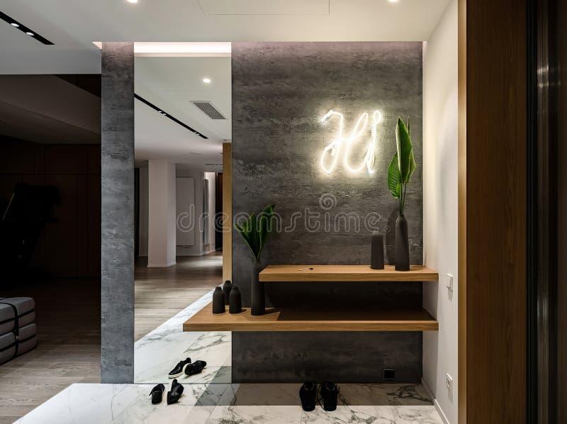 Interior en estilo moderno imagen de archivo libre de regalías