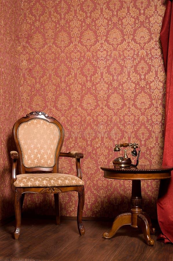 Interior en estilo retro imagen de archivo