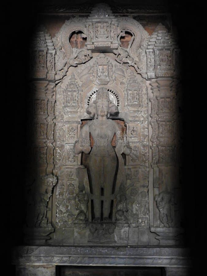 Interior, en las paredes de los antiguos templos Kama Sutra en la India kajuraho Patrimonio de la Humanidad de la UNESCO El punto imagen de archivo