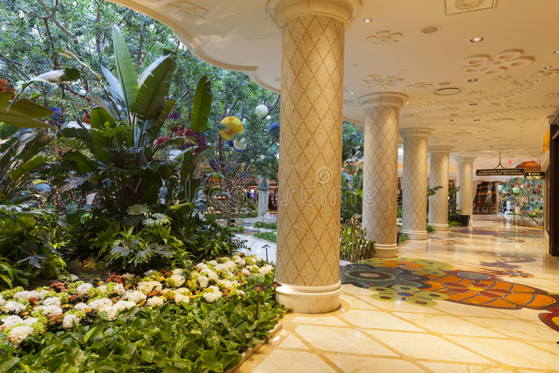 Interior en Las Vegas, nanovoltio del hotel de Wynn el 2 de agosto de 2013 foto de archivo libre de regalías