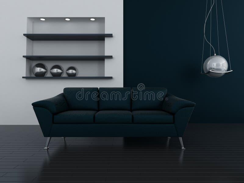 Interior en tonos azul marino libre illustration