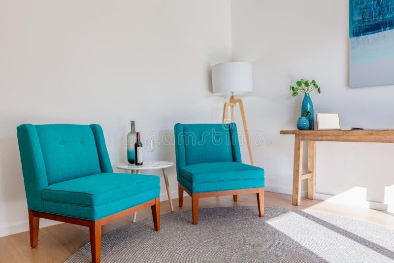 Interior escandinavo da mobília fotos de stock royalty free