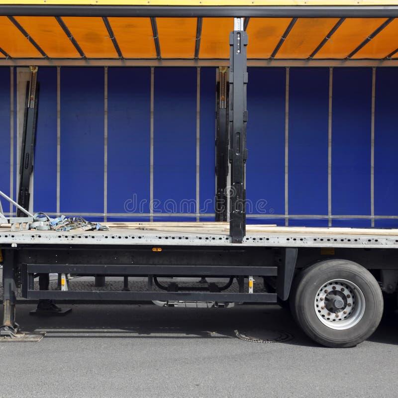 Interior espaçoso do caminhão fotografia de stock