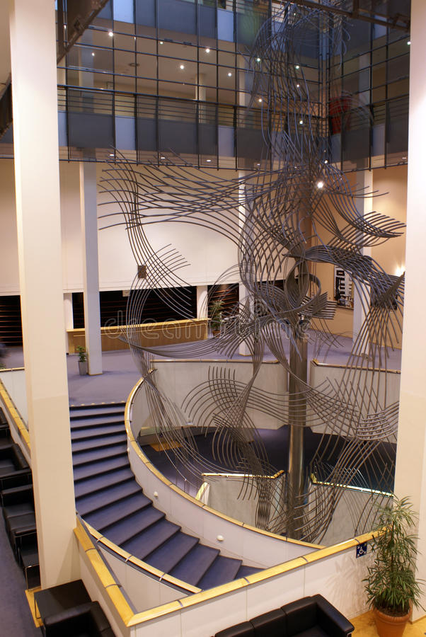 Interior of the European parliament in Brussels. stock photos