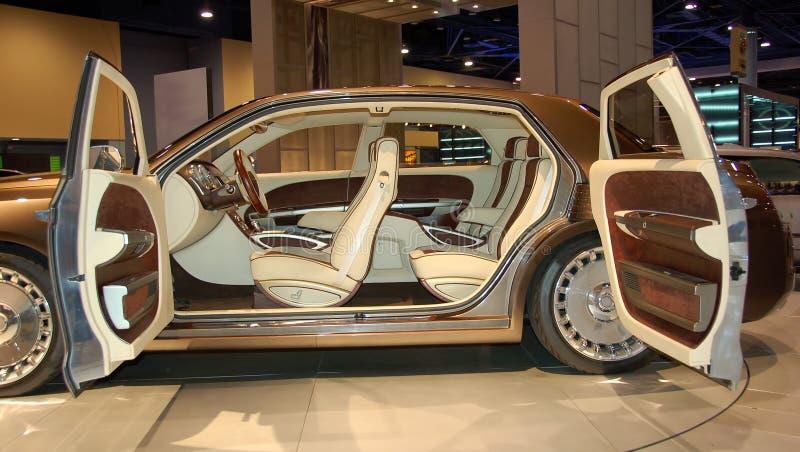 Interior exótico luxuoso do carro fotos de stock royalty free
