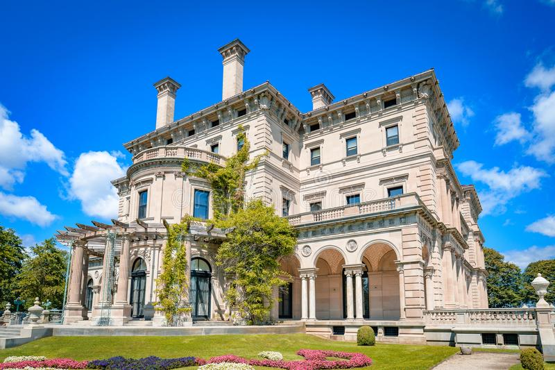 Extravagant houses in america Breakers Mansion. Interior and exterior of Breakers mansion Rhode Island USA Newport stock images