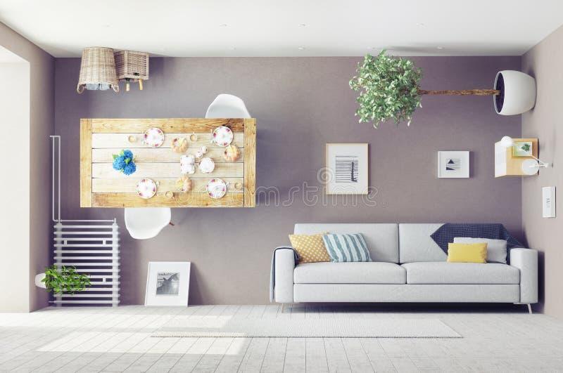Interior extraño stock de ilustración