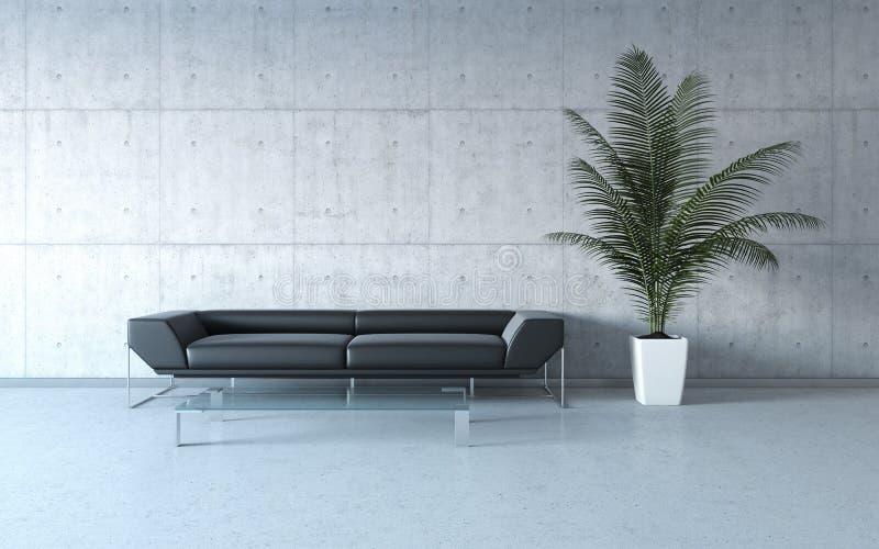 Interior extremamente à moda do minimalism ilustração royalty free