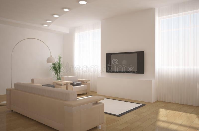 interior för design 3d stock illustrationer