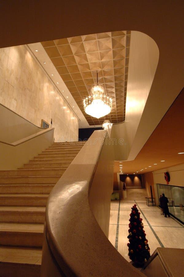 Interior famoso do teatro foto de stock