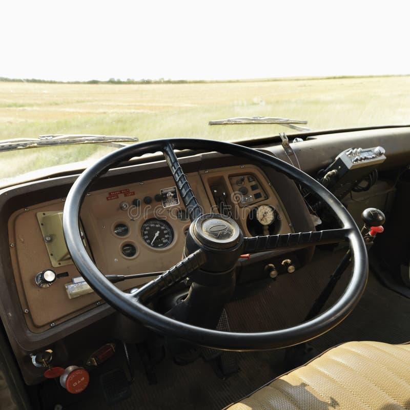 Interior of farm truck stock image