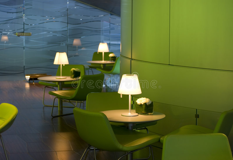 Interior of a fashionable cafe stock photography