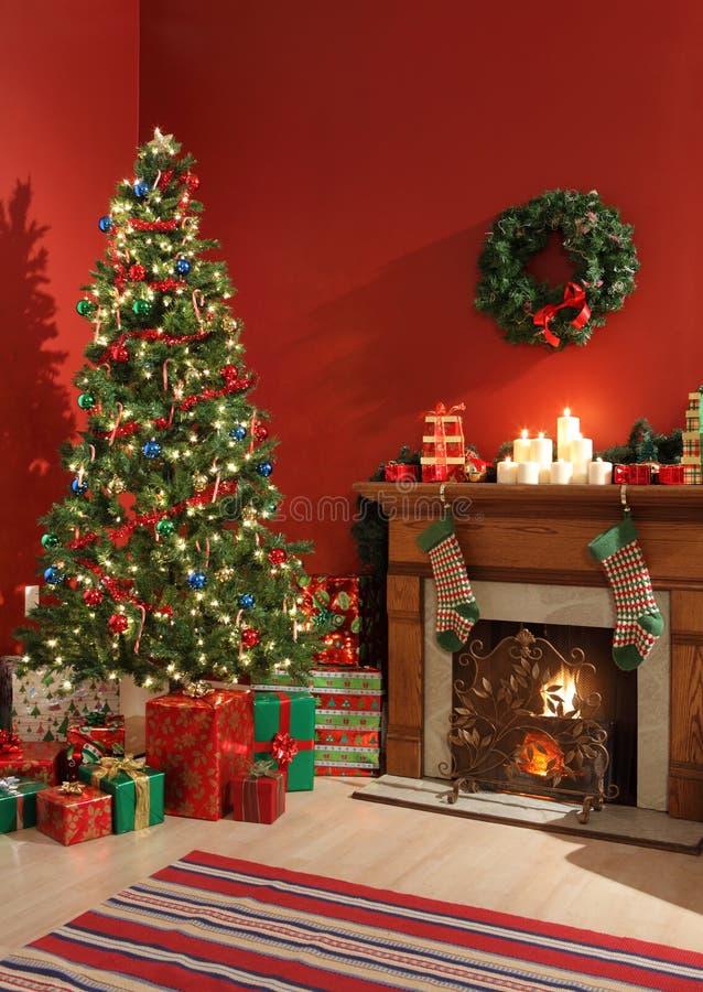 Interior festivo de la Navidad imagen de archivo libre de regalías