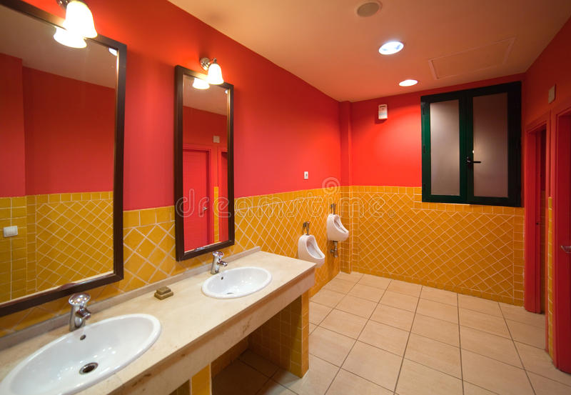 Interior of with few sinks stock photos