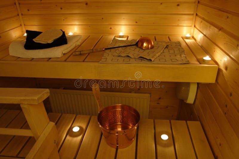 Interior Of A Finnish Sauna Free Stock Photos