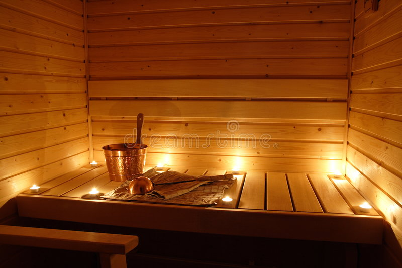 Download Interior Of A Finnish Sauna Stock Photo - Image: 5452226