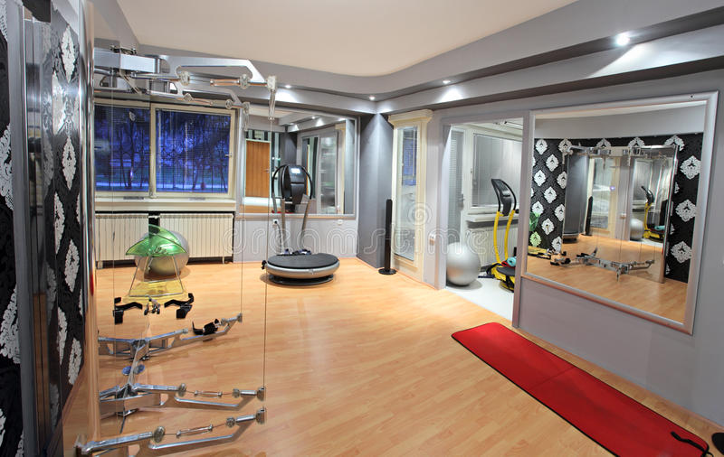 Interior of a fitness club