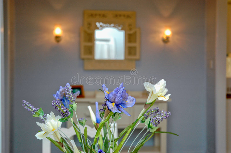interior flower decor - lavender royalty free stock image