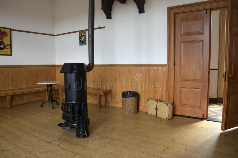 Interior of the former railway station royalty free stock photography