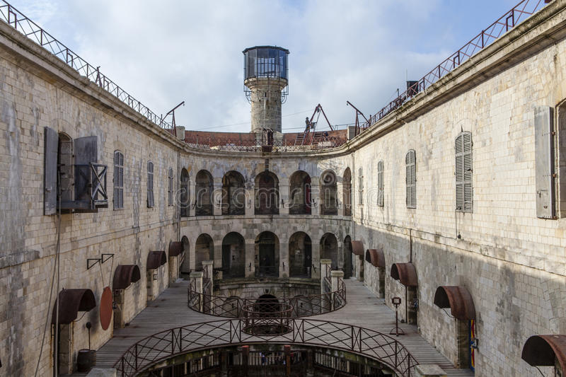 Interior of Fort Boyard in France, Charente-Maritime, France royalty free stock images