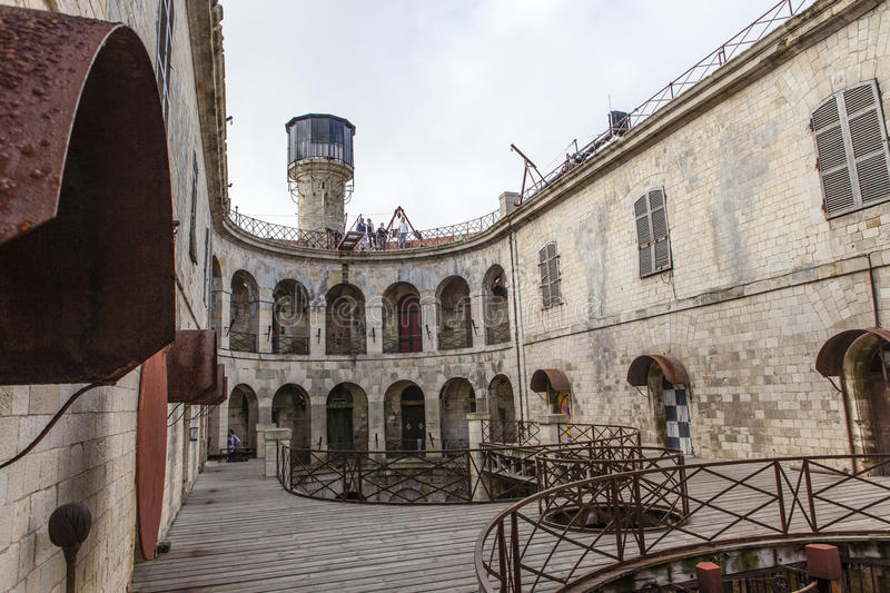 Interior of Fort Boyard in France, Charente-Maritime, France royalty free stock image