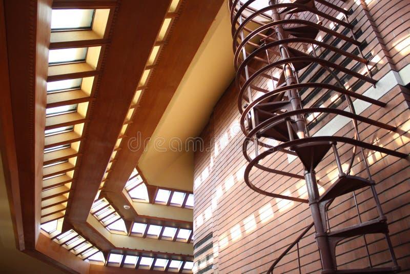 Interior, Frank Lloyd Wright Building Wingspread, Racine Wisconsin foto de stock royalty free