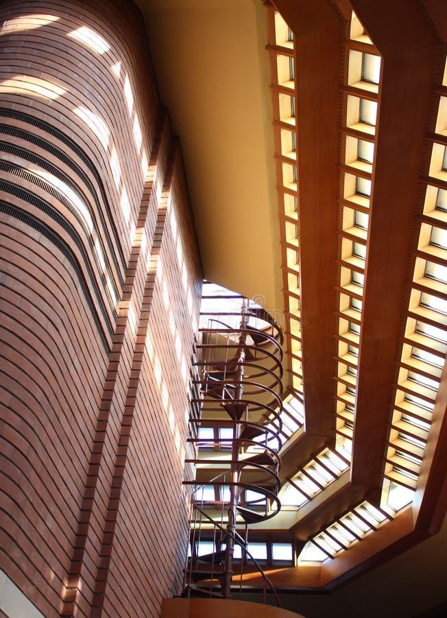 Interior, Frank Lloyd Wright Building Wingspread, Racine Wisconsin fotos de archivo libres de regalías