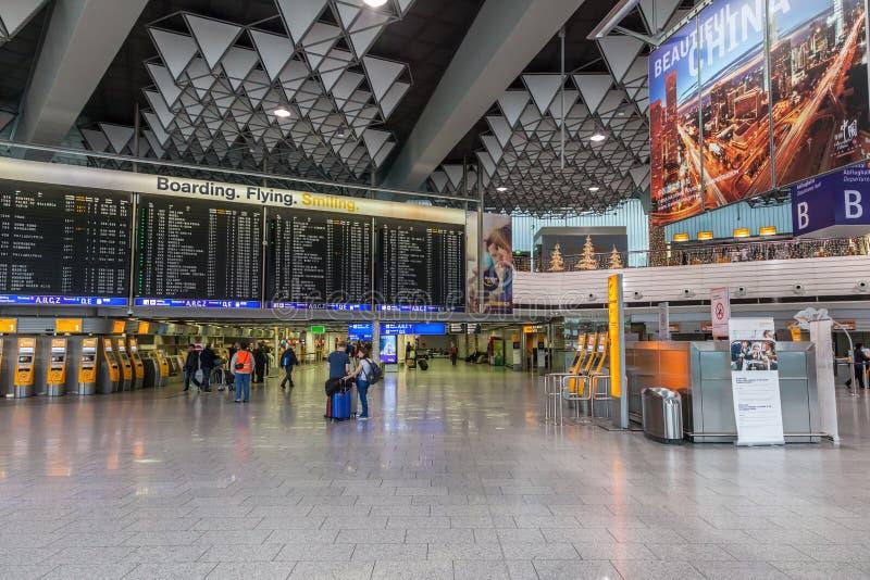 Interior of the Frankfurt International Airport royalty free stock photo