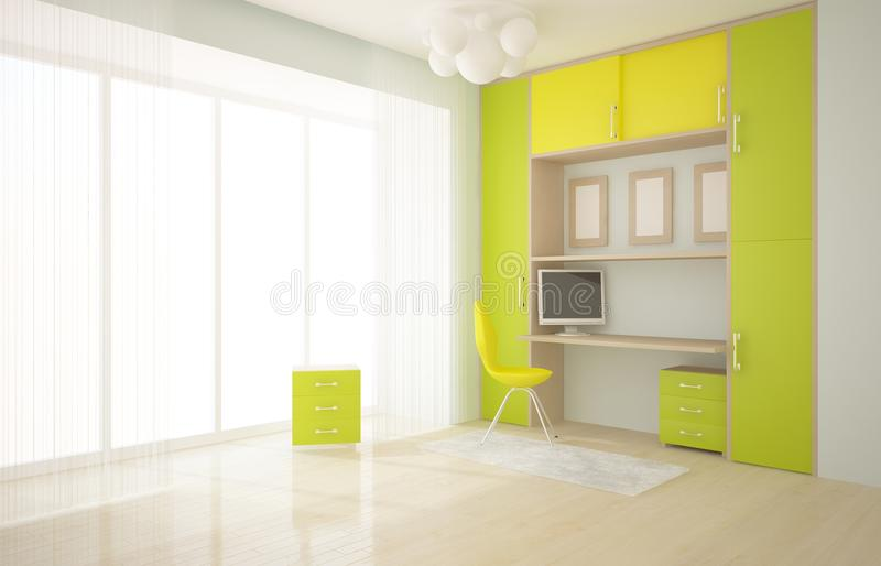 Download Interior with furniture stock illustration. Image of composition - 16385169