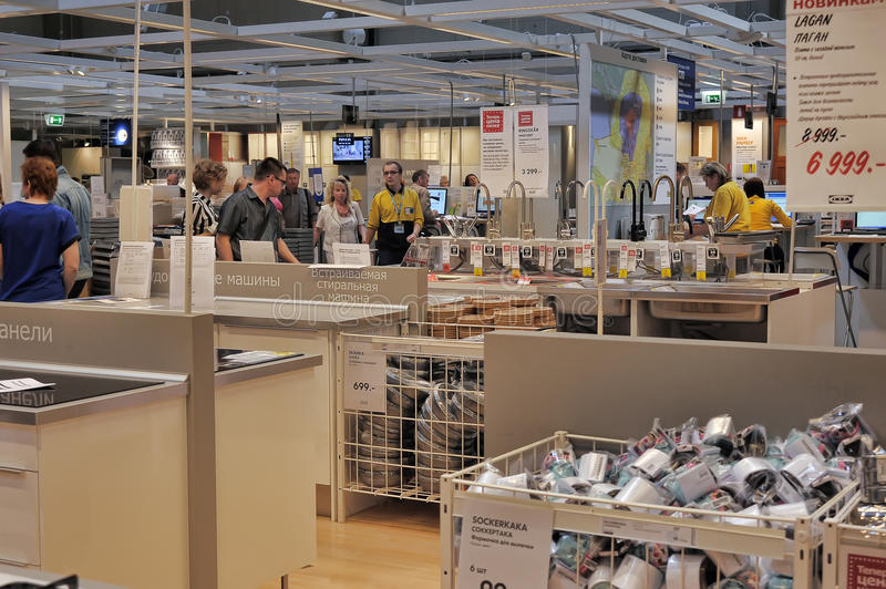 Interior Furniture Store Ikea Editorial Photo - Image of much, shop ...