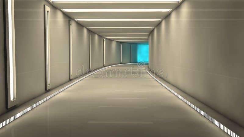 Interior futurista ilustración del vector
