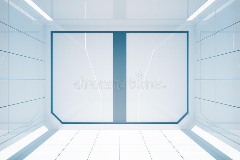 Interior futurista brillante stock de ilustración