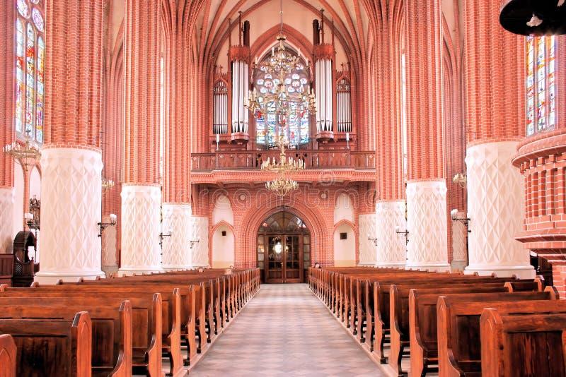 Interior gótico. imagen de archivo libre de regalías