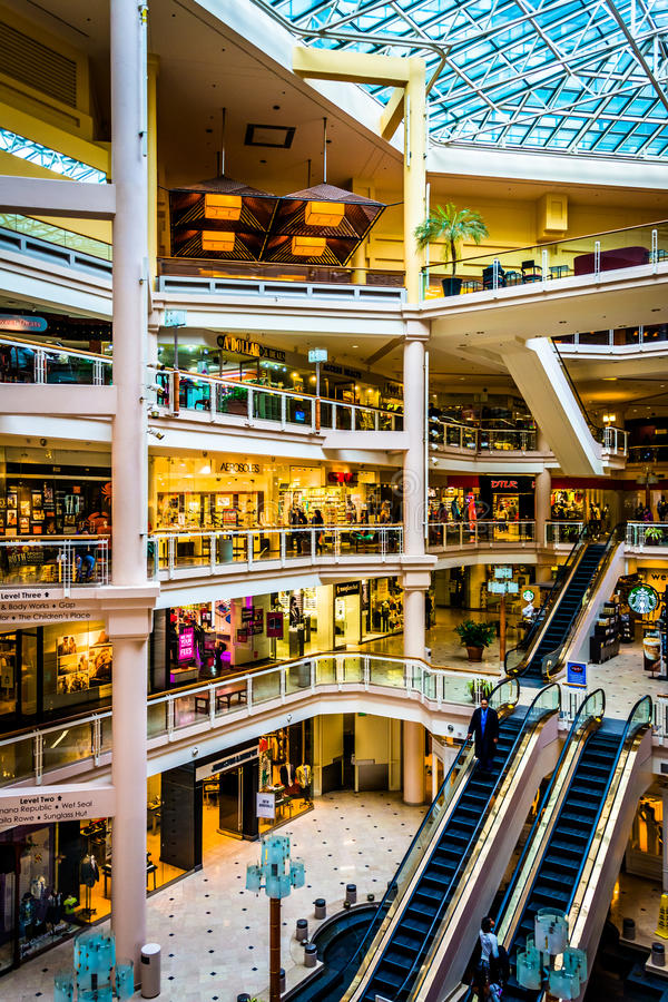 The interior of The Gallery, in the Inner Harbor of Baltimore, M. Aryland royalty free stock photos