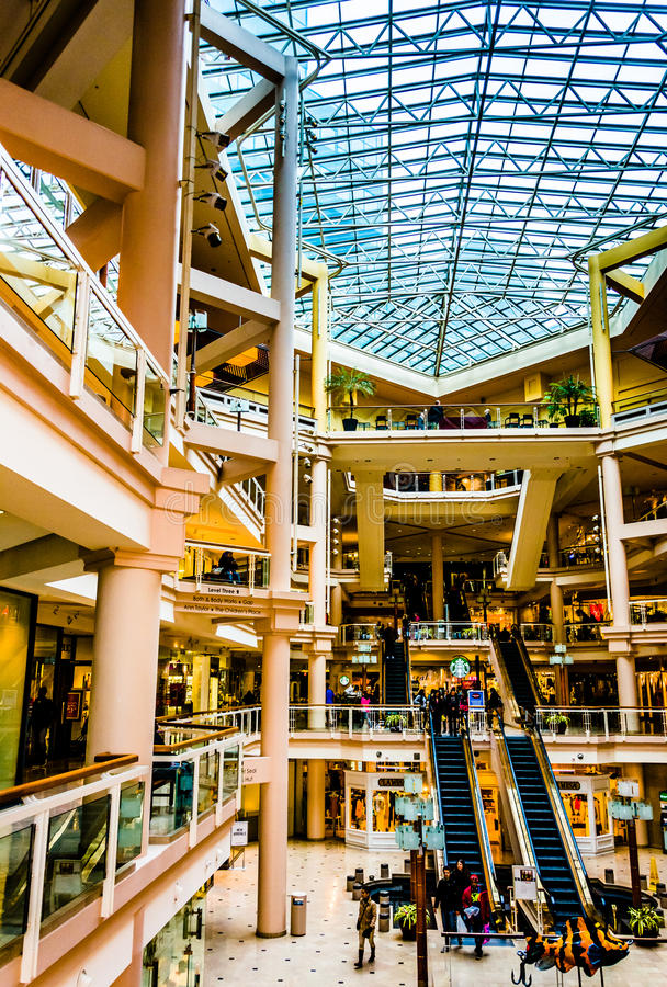 The interior of The Gallery, in the Inner Harbor of Baltimore, M. Aryland stock photo