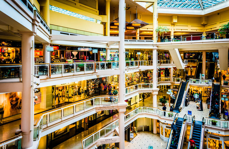 The interior of The Gallery in the Inner Harbor of Baltimore, Ma. Ryland stock image
