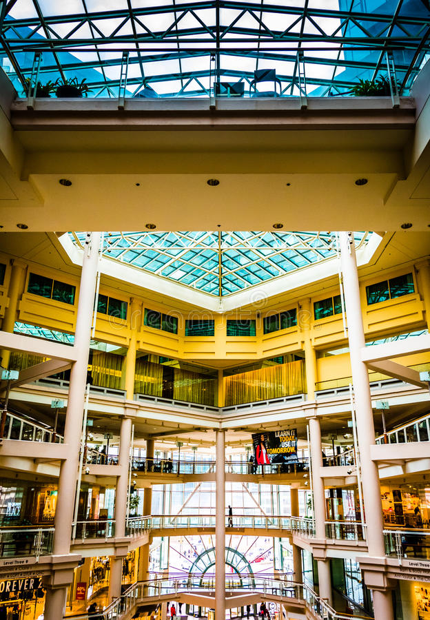 The interior of The Gallery in the Inner Harbor of Baltimore, Ma. Ryland royalty free stock photos